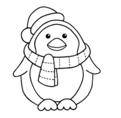 penguin coloring pages preschool winter penguin who is steady and cool coloring page