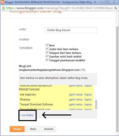 membuat link blogspot cara membuat widget tukar link di blog rangkuman