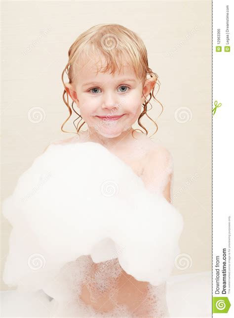girl bathing in bathroom images little girl in bath royalty free stock image image 12963366