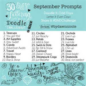 doodle daily challenge 25 best september challenge ideas on
