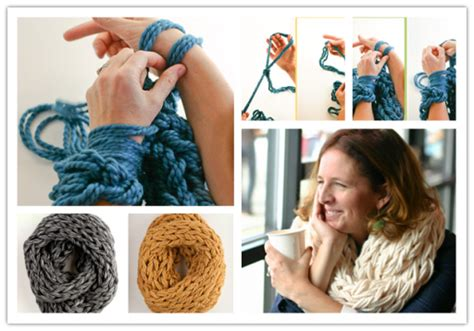 arm knitting scarf step by step how to make diy arm knitting scarves step by step tutorial
