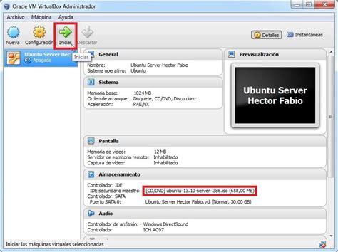 imagenes de virtualbox tutorial instalaci 243 n ubuntu server 13 10 en virtualbox 4 3
