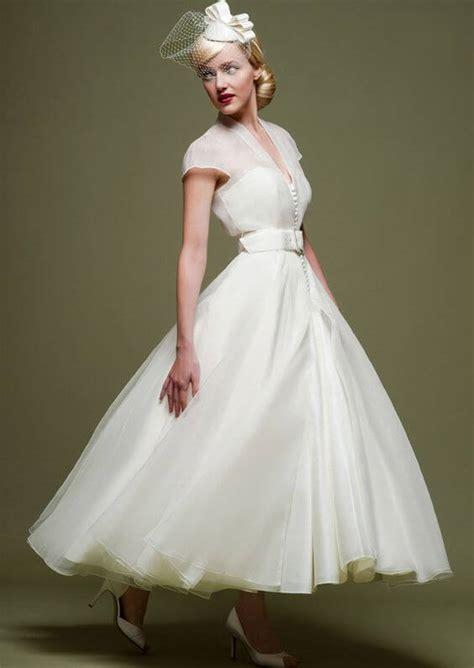 vintage tea length wedding dresses
