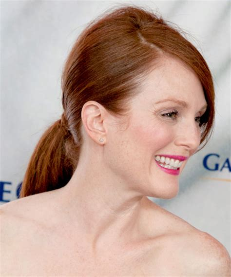 what color is julianne moore s hair julianne moore updo long straight formal wedding updo