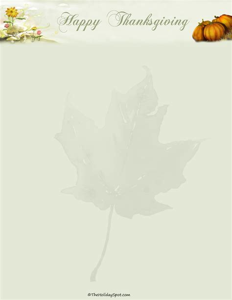 printable thanksgiving stationery letterheads and stationary for writing hand written