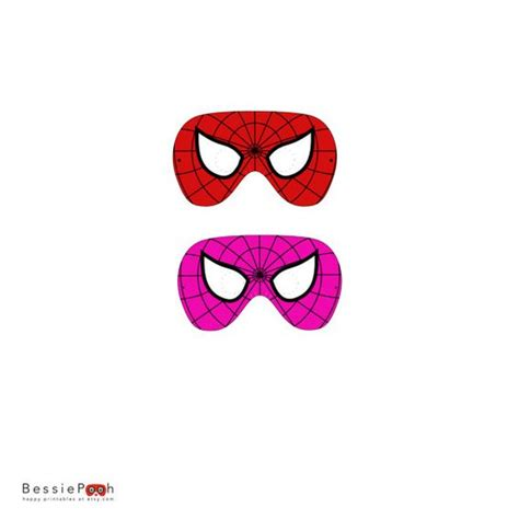 printable mask spiderman printable spiderman and spidergirl mask instant by