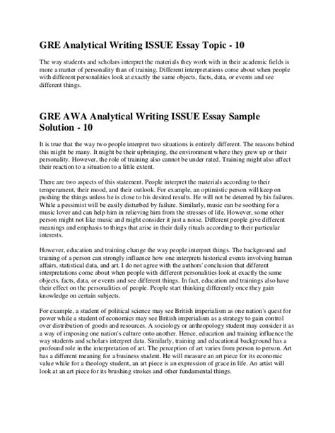 Sle Gmat Essay Questions by Gre Awa Sle Essays 28 Images Gmat Awa Sle Essays Pdf 28 Images Essay Writing Gmat Gmat