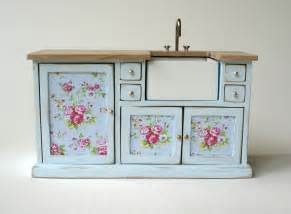 Shabby Chic Home Decor For Sale Beautiful 1 12 Scale Pastel Blue Shabby Chic Kitchen