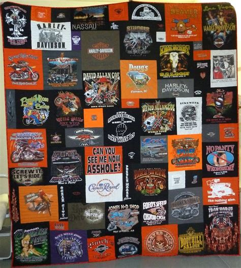 harley davidson t shirt quilts