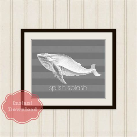 kids whale bathroom decor whale bath print splish splash art print childrens bath