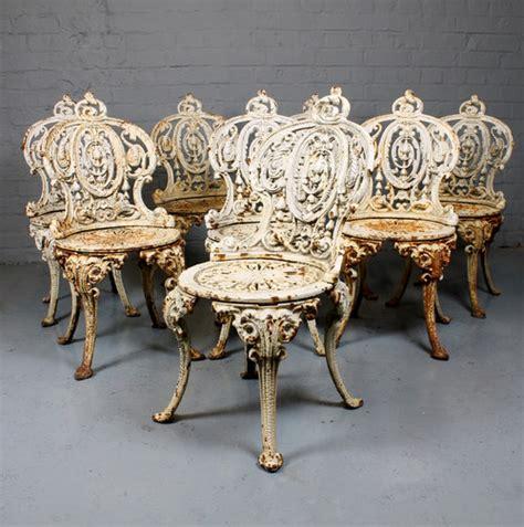 antiques atlas  cast iron garden chairs