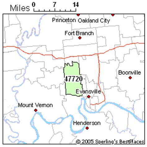 zip code map evansville in evansville indiana zip codes map