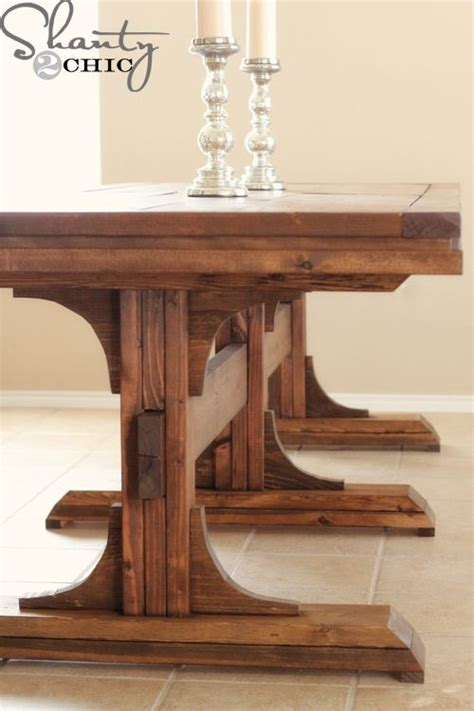 farmhouse dining table plans table diy plans brokeasshome com