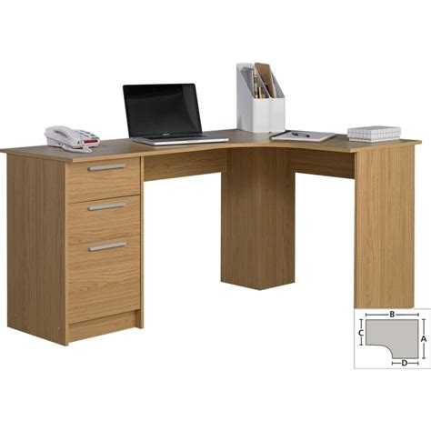 Large Corner Desks Large Corner Desk Oak Effect