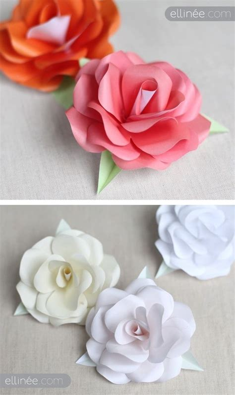 diy paper roses full step by step tutorial plus free