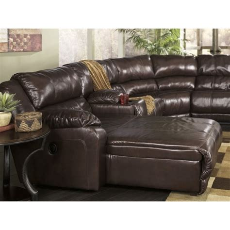 braxton java sectional ashley braxton 6 piece left reclining storage sectional in