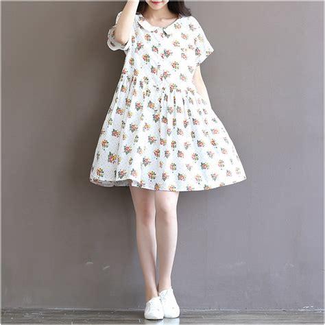 Cotton Japan Garis japanese sweet mori vintage print cotton sleeve dress ebay