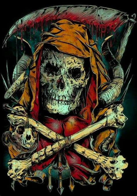 studio 54 tattoo evil skull grim reaper bad to the bone