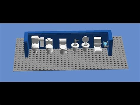 tutorial lego public restroom how to make a lego toilet differents toilets youtube