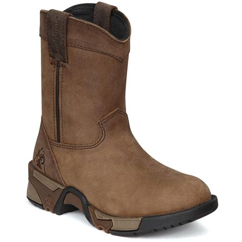 rockies boots for rocky 174 aztec pull on boots soggy walnut 217036