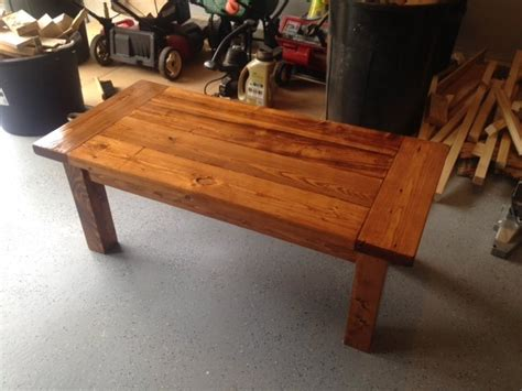 farmhouse coffee table made with free 2x6 s by