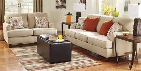Buy Ashley Furniture 1600038 1600035 Set Deshan Birch Furniture Living Rooms