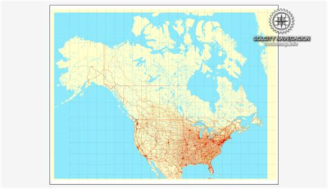 map usa vector usa canada printable vector counrty road map gps