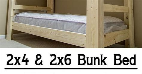 easy strong cheap bunk bed wood working pinterest
