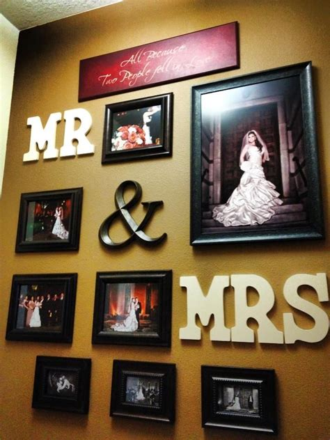 Mr And Mrs Home Decor Mr Mrs Wall Of Wedding Photos Master Bedroom Ideas