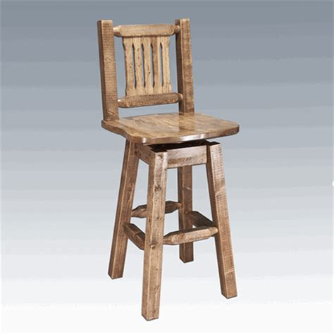 Pine Bar Stools With Backs by Amish Quot Homestead Quot Pine Bar Stool With Back Swivel