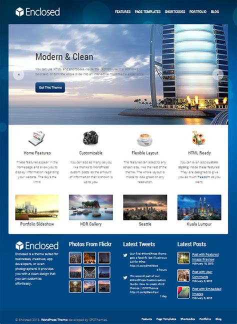 wordpress themes art gallery free 10 best free responsive wordpress themes for business