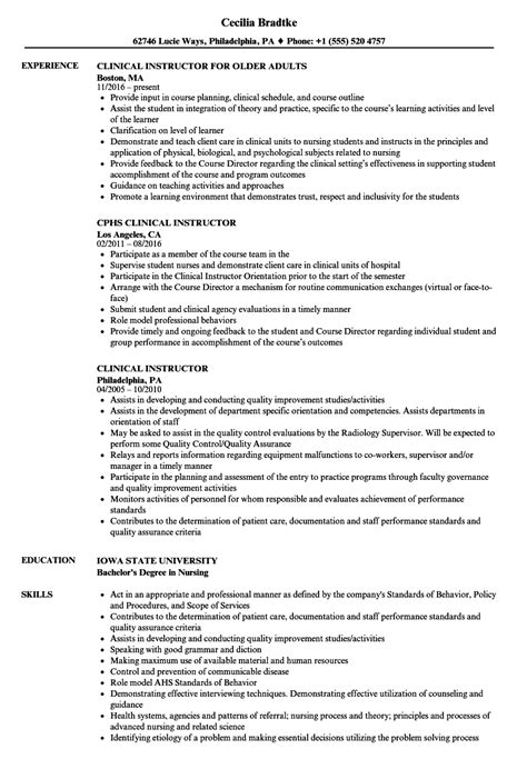 magnificent nurse instructor resume sle photos entry