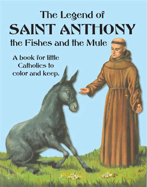 the legend of st the legend of st anthony the fishes and the mule