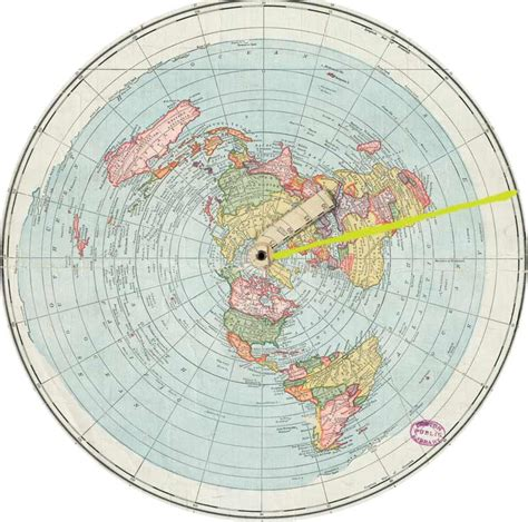 flat earth equidistant map projection flat earth vs round earth azimuthal equidistant calculator