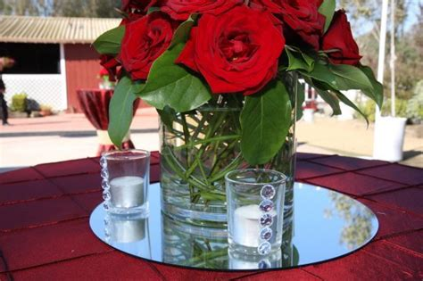 round mirror on table centerpiece google search