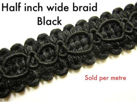 Upholstery Braid And Trimmings black chair braid trimming fabric upholstery trim per m