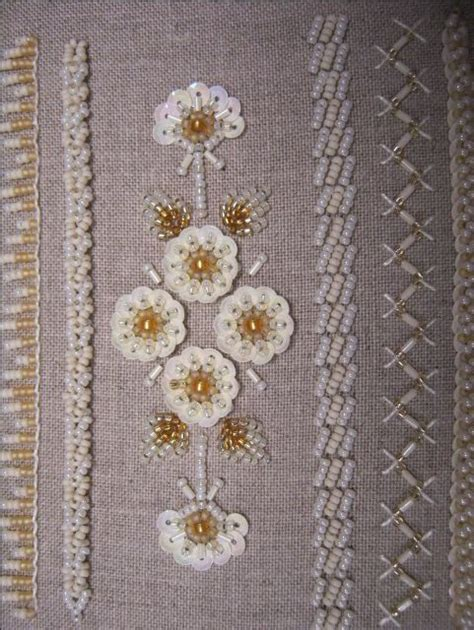 bead and sequin embroidery stitches bead embroidery stitch sles search