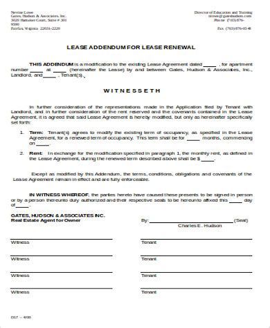 rental renewal form lease renewal form in pdf lease