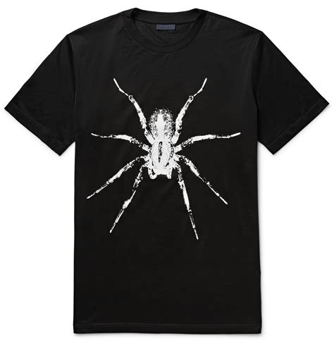 T Shirt Black Spider lanvin spider print cotton jersey t shirt in black for