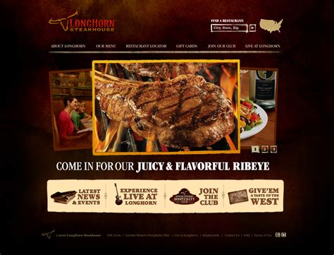 design menu steak steakhouse web design erman erkur