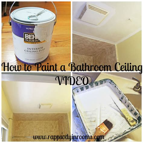how to paint bathroom ceiling how to paint a bathroom ceiling video