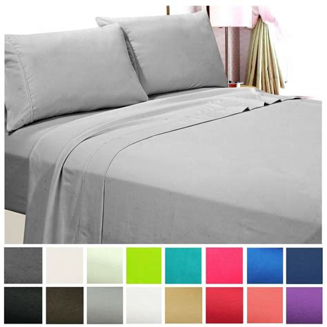 count hotel quality deep pocket  piece bed sheet set wrinkle   size ebay