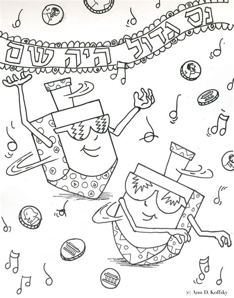 coloring pages of chanukah chanukah