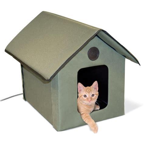 heated dog bed amazon amazon com k h outdoor kitty house heated pet beds