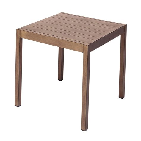 Patio Side Tables Allen Roth Highgate 24 In Patio Side Table Lowe S Canada