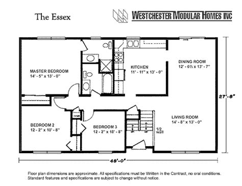westchester modular homes essex ranch description this