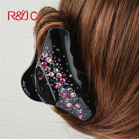 popular rhinestone hair claw buy cheap rhinestone hair