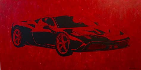 ferrari painting abstract art classes lessons learn how to paint