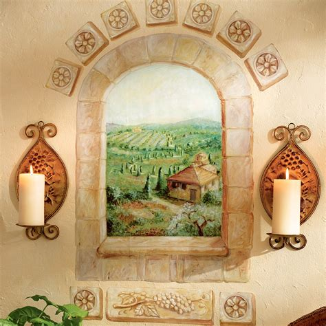 tuscan wall murals wallies tuscan window wallpaper mural 13415