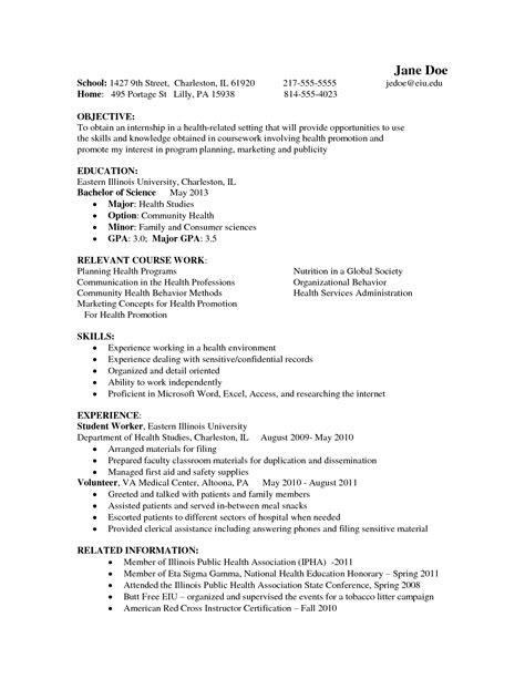 Resume Career Objective Psychology psychology sle resume free resumes tips